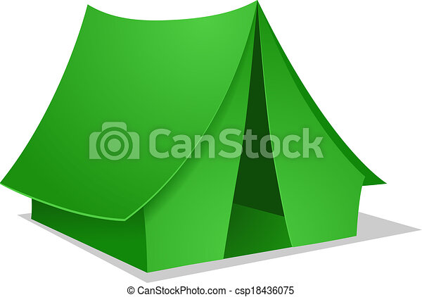 Vector Green Camping Tent