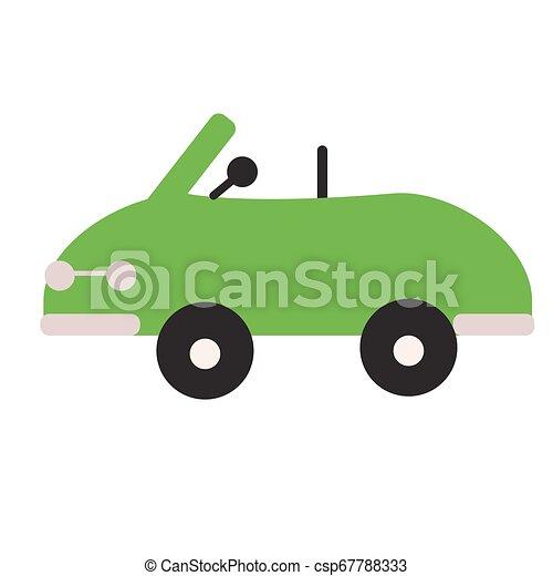 Green car flat illustration on white - csp67788333