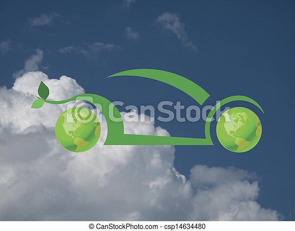 Green car - csp14634480
