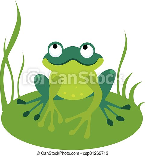 green cartoon frog vector illustration vector illustration rh canstockphoto com frog vector logo frog vector free