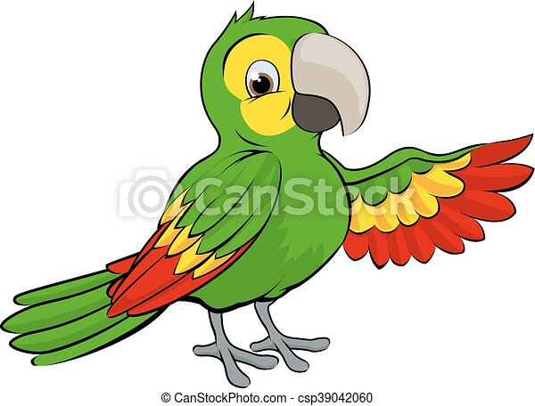 green cartoon parrot a cartoon green parrot bird pointing clip rh canstockphoto co uk macaw clipart free macaw clip art free