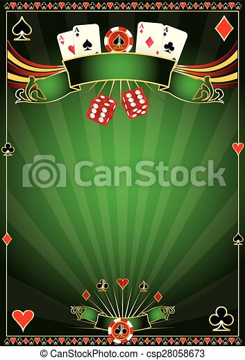 Green Casino background - csp28058673