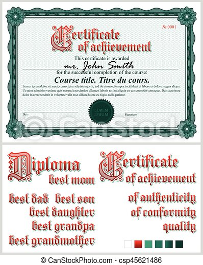 Green certificate template guilloche horizontal green green certificate template guilloche horizontal vector yadclub Choice Image