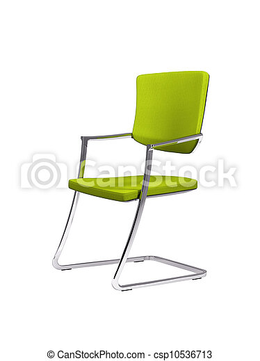 Green chair isolated on white - csp10536713