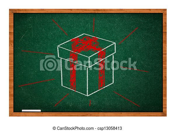 Green chalkboard - csp13058413