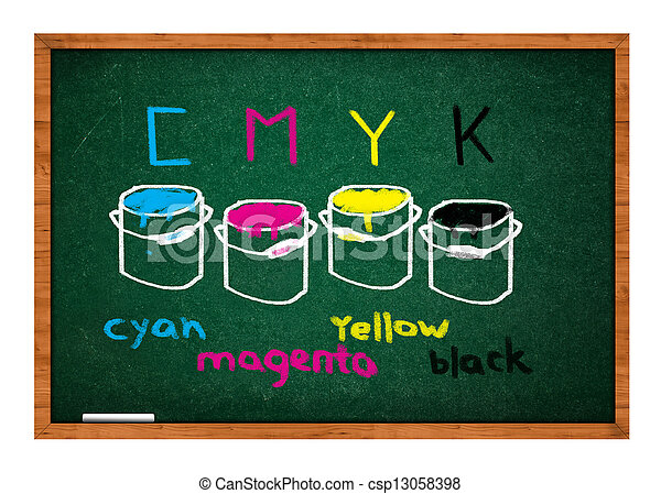 Green chalkboard - csp13058398