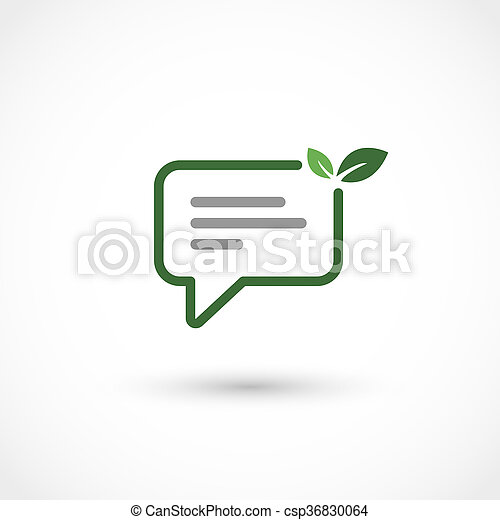 Green chat - csp36830064