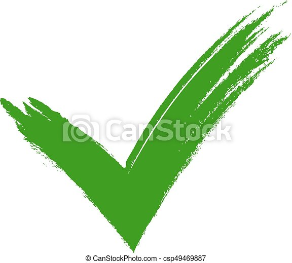 Green Tick Green Check Mark Tick Symbol Icon Sign In Green Color