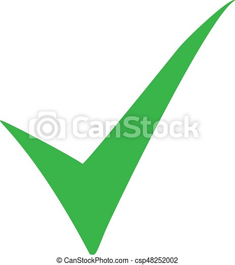 green check mark icon tick symbol in green color vector vector rh canstockphoto com check mark graphics downloadable green checkmark graphic