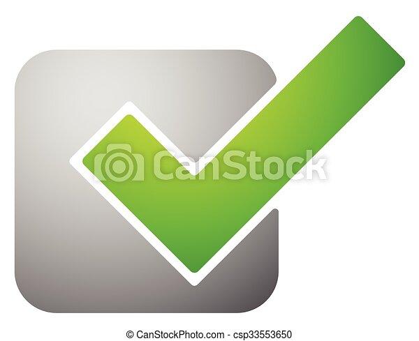 Green Check Mark Tick Symbol Icon Vector Illustration