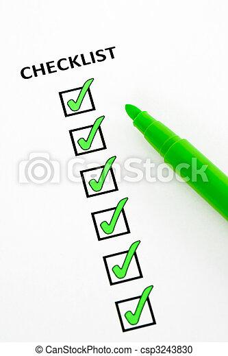 Green checklist - csp3243830