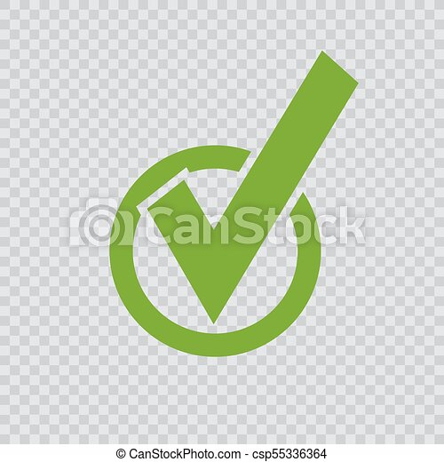 green checkmark icon. - csp55336364