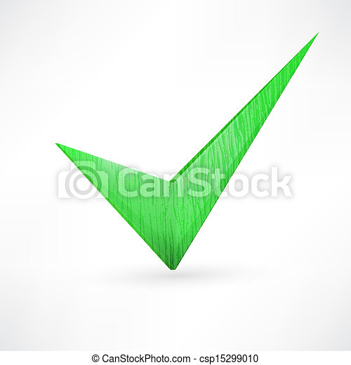 green checkmark. - csp15299010