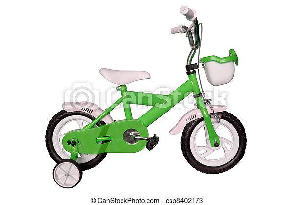 green children's bicycle - csp8402173
