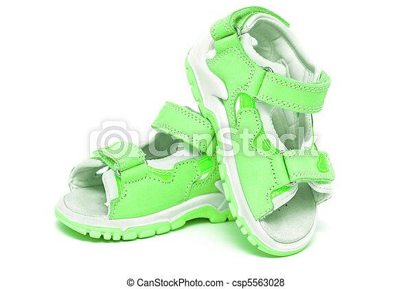 Green child's sandals - csp5563028