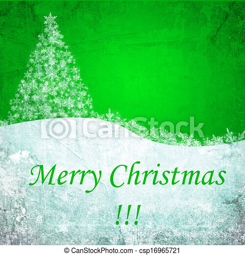 green christmas background - csp16965721