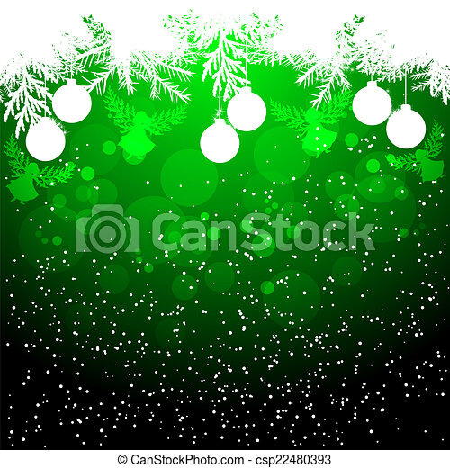 Angels Christmas Background.Green Christmas Background