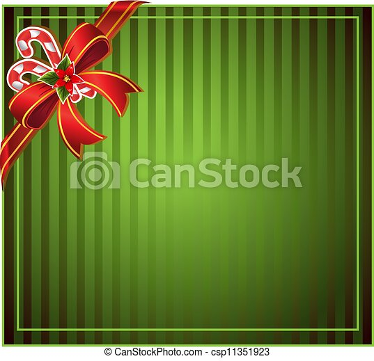 Green Christmas background - csp11351923