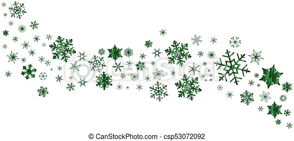 green christmas snowflake banner a banner of snowflakes in green