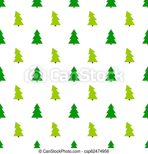 Christmas Trees Background Clipart.Green Christmas Trees Pattern On White Background