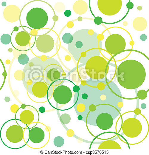 Green circles and dots pattern, abstract background - csp3576515