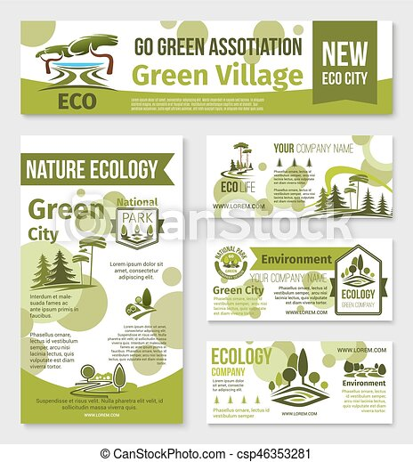Green city eco business banner template design nature ecology green city eco business banner template design csp46353281 reheart Image collections
