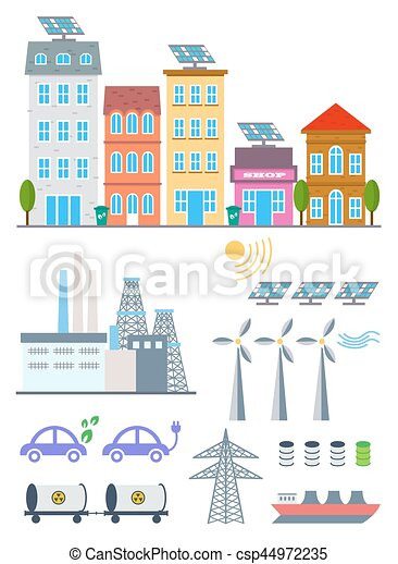 illustration with eco icons environment ecology infographic elements ecosystem background banner diagram web design brochure template elements