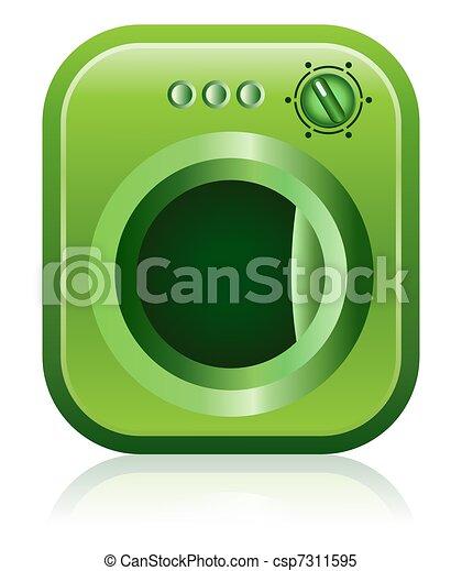 Green Clothes Dryer Washing Machine - csp7311595