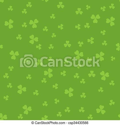 Green clover backgrounds - csp34430566
