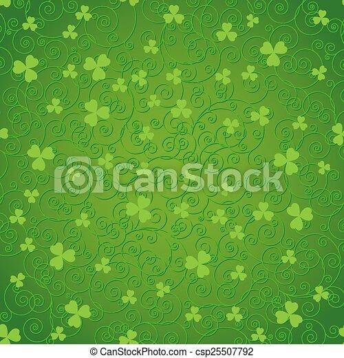 Green clover backgrounds - csp25507792