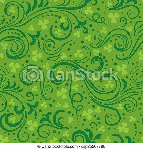 Green clover backgrounds - csp25507798