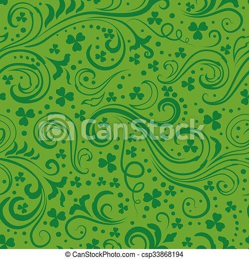 Green clover backgrounds - csp33868194