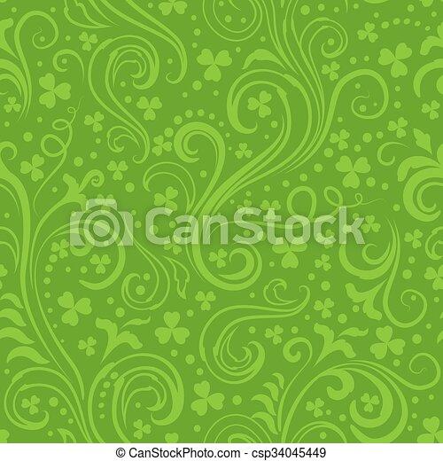 Green clover backgrounds - csp34045449