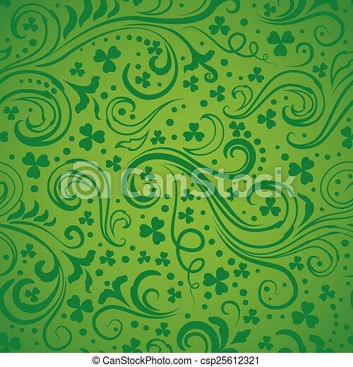 Green clover backgrounds - csp25612321