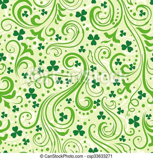 Green clover backgrounds - csp33633271