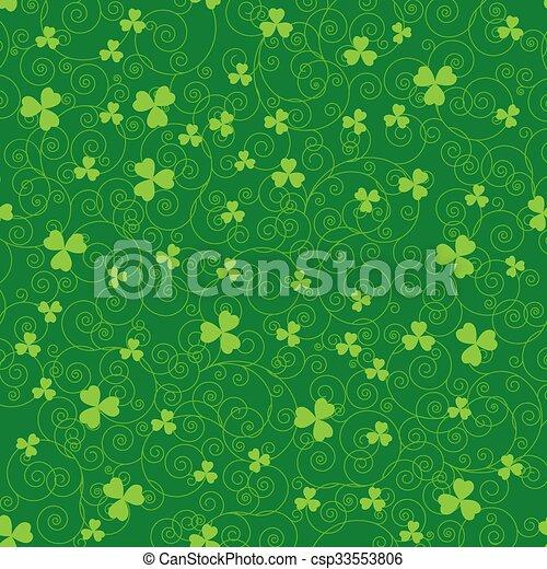 Green clover backgrounds - csp33553806