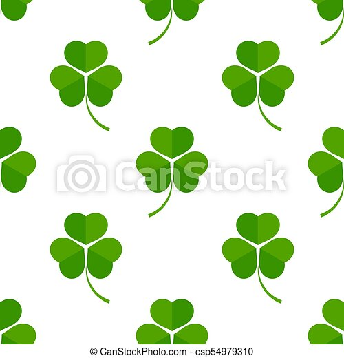 Green clover leaves - csp54979310