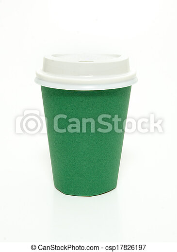 Green coffee cup - csp17826197