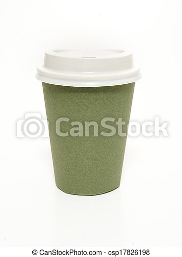 Green coffee cup - csp17826198