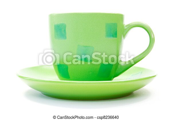 green coffee cup - csp8236640