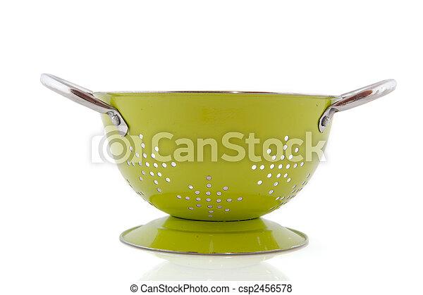 Green colander - csp2456578