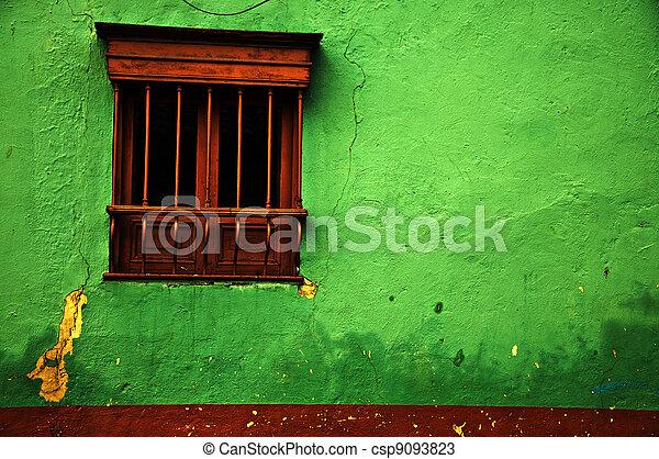 Green Colonial Wall - csp9093823