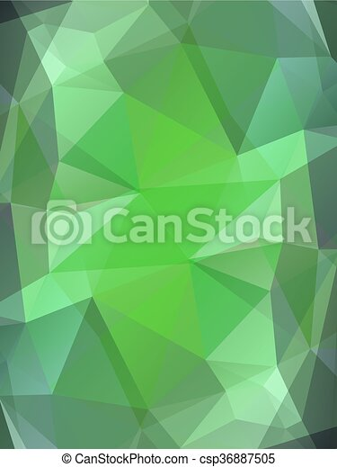 Green color glass abstract background - csp36887505