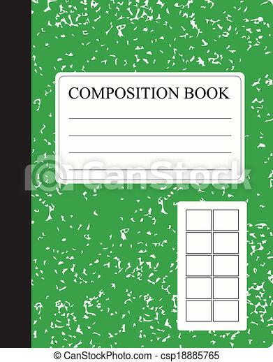 Green Composition Book   Csp18885765