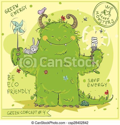 Green Concept 4 - Hand drawn series. - csp28402842