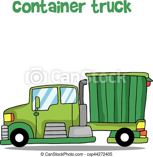 green container truck vector illustration collection stock vector rh canstockphoto com truck vector free vector truck