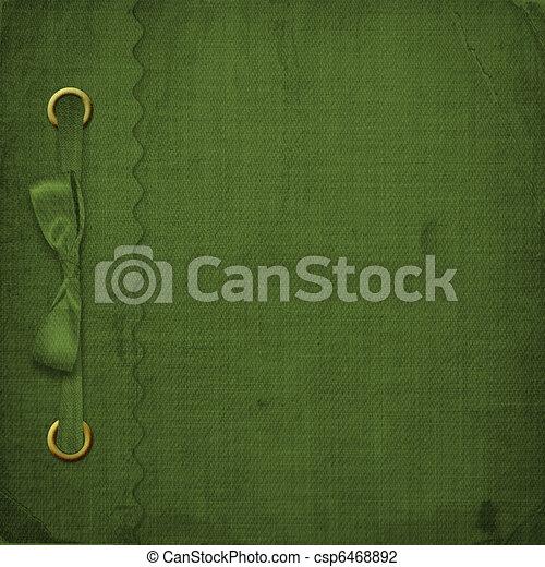 Green cover for an album with photos - csp6468892