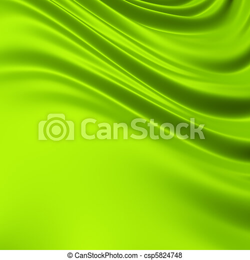 Green creased cloth / material. Clean, detailed render. Backgrounds series. - csp5824748