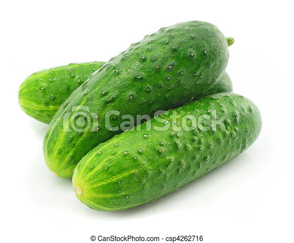 green cucumber vegetable fruit isolated - csp4262716