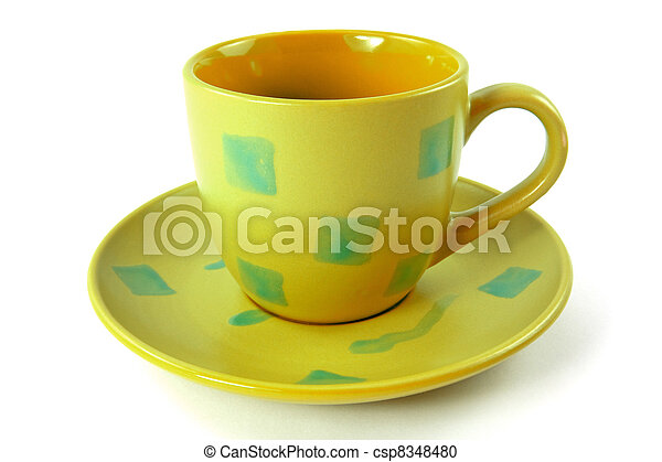 green cup with plate - csp8348480